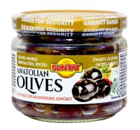 Black Olives pitted spices 12x300ml Gl